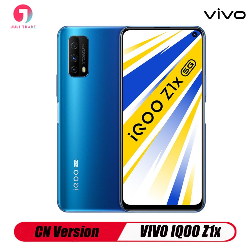 Перейти на Алиэкспресс и купить CN версия VIVO IQOO Z1X Смартфон Snapdragon 765G Тройная камера 48MP 6,57 дюймов Быстрая зарядка 33 Вт