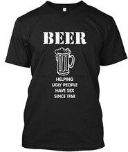 Männer T Shirt Bier Menschen Hilft Haben Sex-TRINKEN Frauen T-Shirt