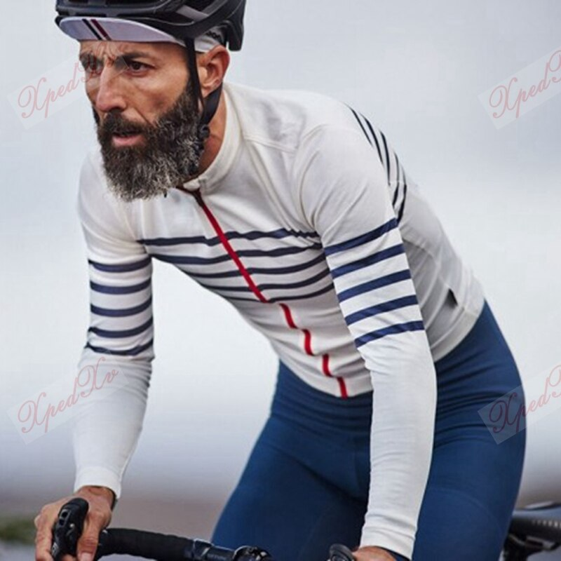 2020 primavera listrado branco manga longa camisa de ciclismo esporte casual camisa corrida aerodinâmica mtb ridewear ropa hombre