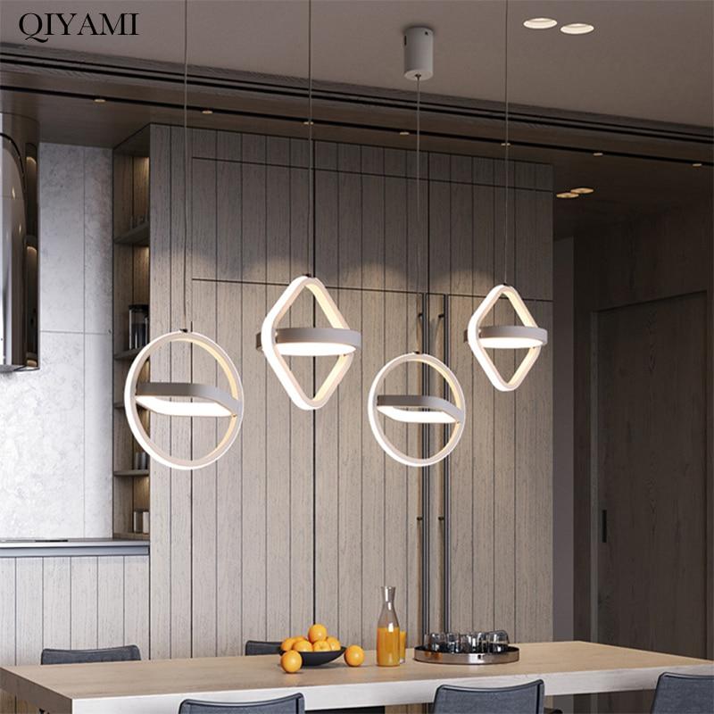 مصباح معلق LED بتصميم عصري مربع أو دائري ، إضاءة داخلية ، إضاءة سقف زخرفية ، مثالي لغرفة المعيشة أو غرفة النوم.