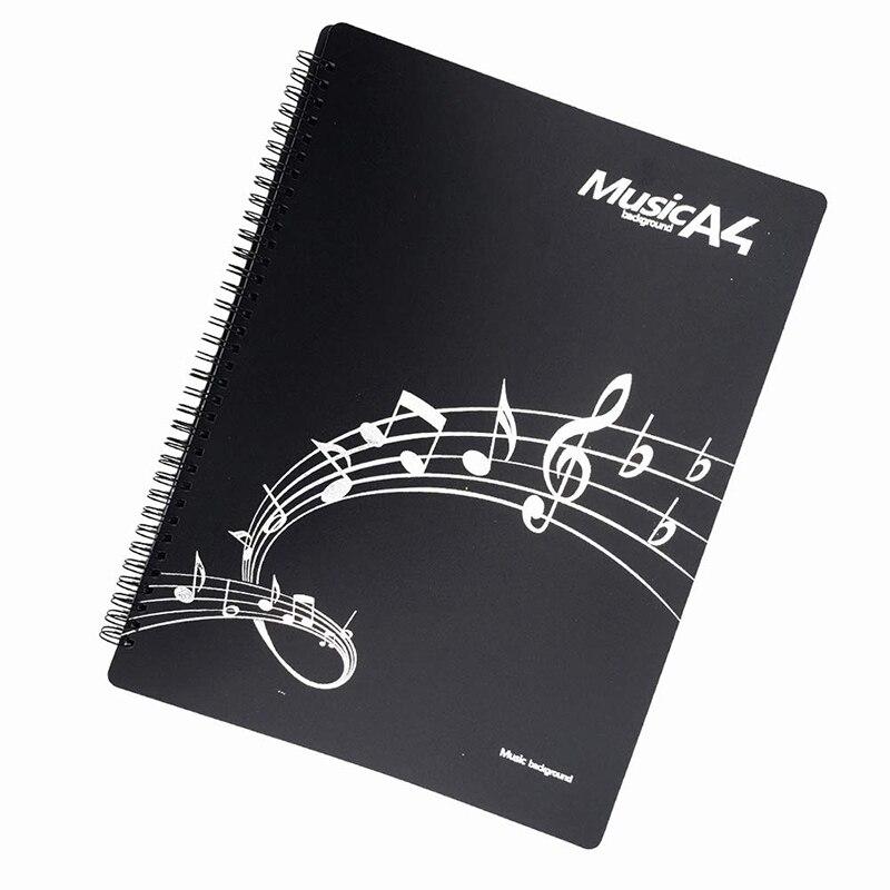 Музыкальная Партитура папка группа папка музыканта папка письменной форме спирали установленный Американский письмо A4 Размеры 20 рукав 40 страниц