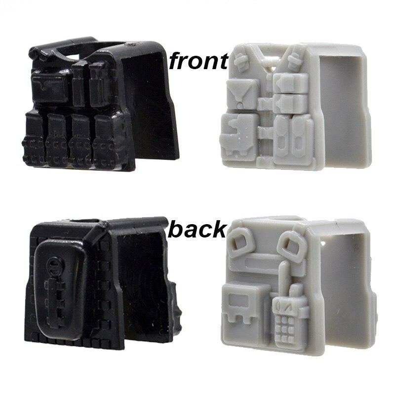 10pcs/lot Military Vests Police MOC Blocks Modern Armor Bricks Part Building Toys for Children