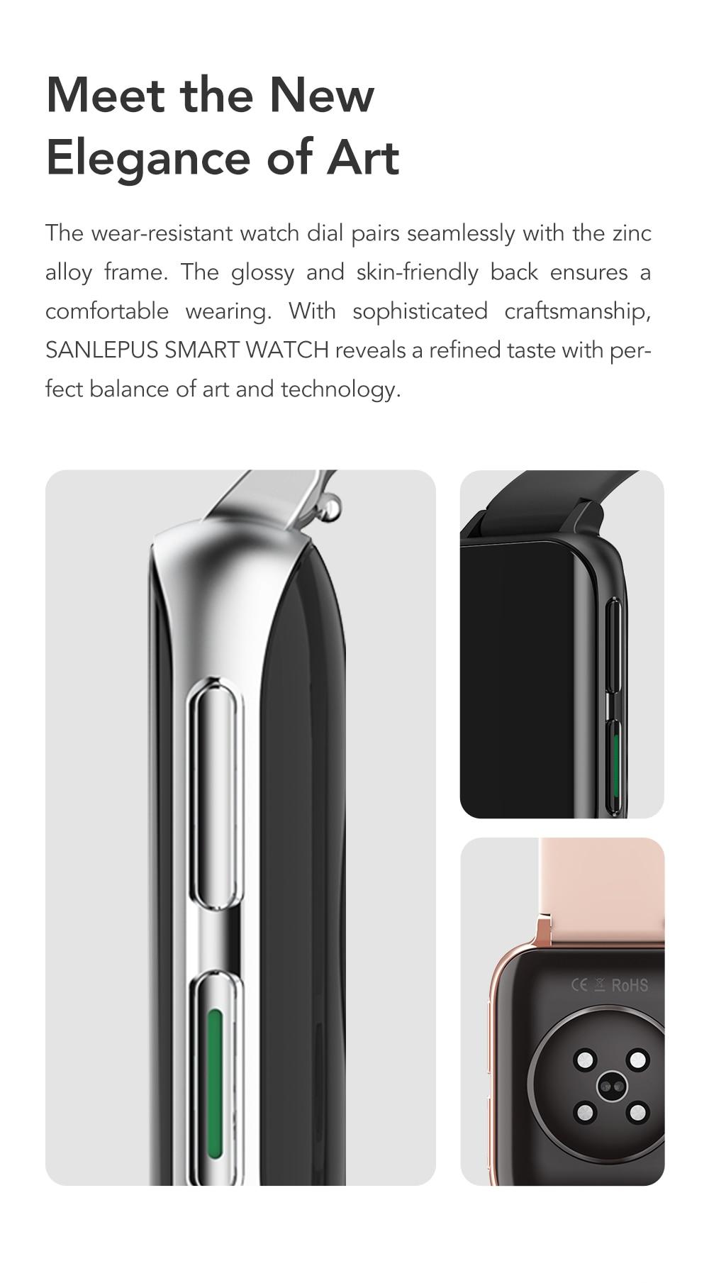 H46f7da523b3446189389cfc3280b158bT SANLEPUS 2021 New Smart Watch Men Women Dial Call Watch Waterproof Smartwatch MP3 Player For OPPO Android Apple Xiaomi