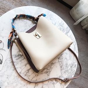 Direct Sales 2020 Contrast Color Bucket Bag Women's Bag Direct Sales New Trendy European and American Fashion Big Handbag