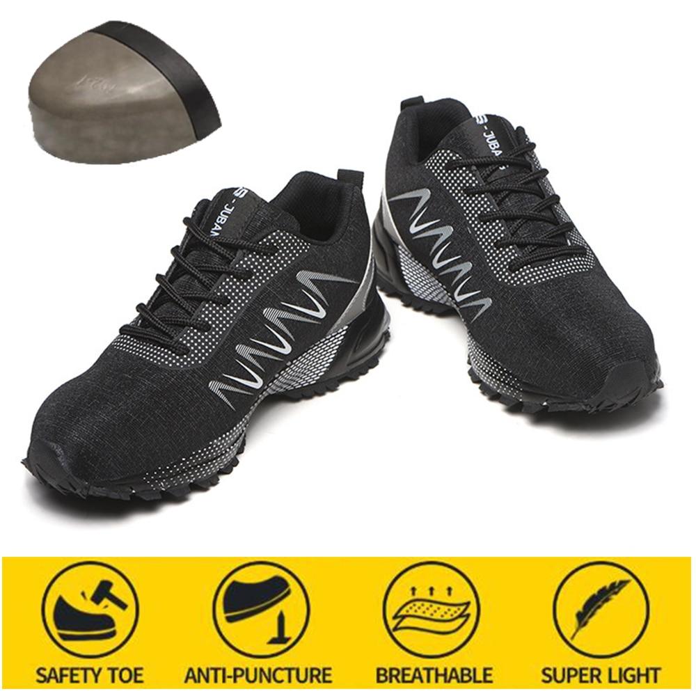 مقاومة للاهتراء عدم الانزلاق سلامة واقية أحذية عمل تنفس مكافحة تحطيم أحذية أمان الرجال مكافحة ثقب أحذية رياضية
