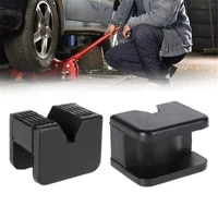square jack support block slotted frame rail floor universal rubber jack guard adapter pad automobiles disassembly tool black