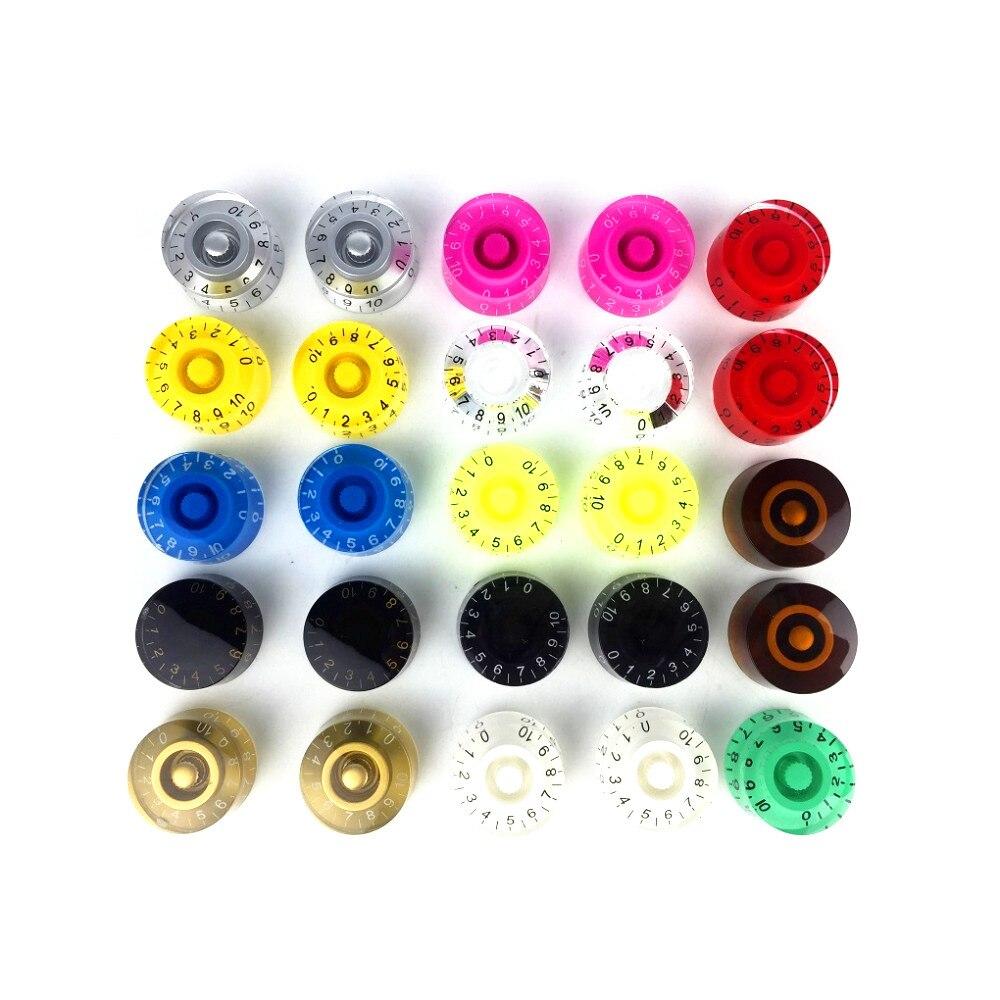 NEW 4PCS Barrel Electric Guitar Knobs Volume Tone Knobs Caps Buttons for LP/SG Guitar Parts,13 Colors for Choose