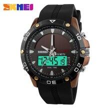 SKMEI double affichage de lheure hommes montre à Quartz numérique chronographe 50M étanche montre-bracelet mâle Sport montres Relogio Masculino 1064