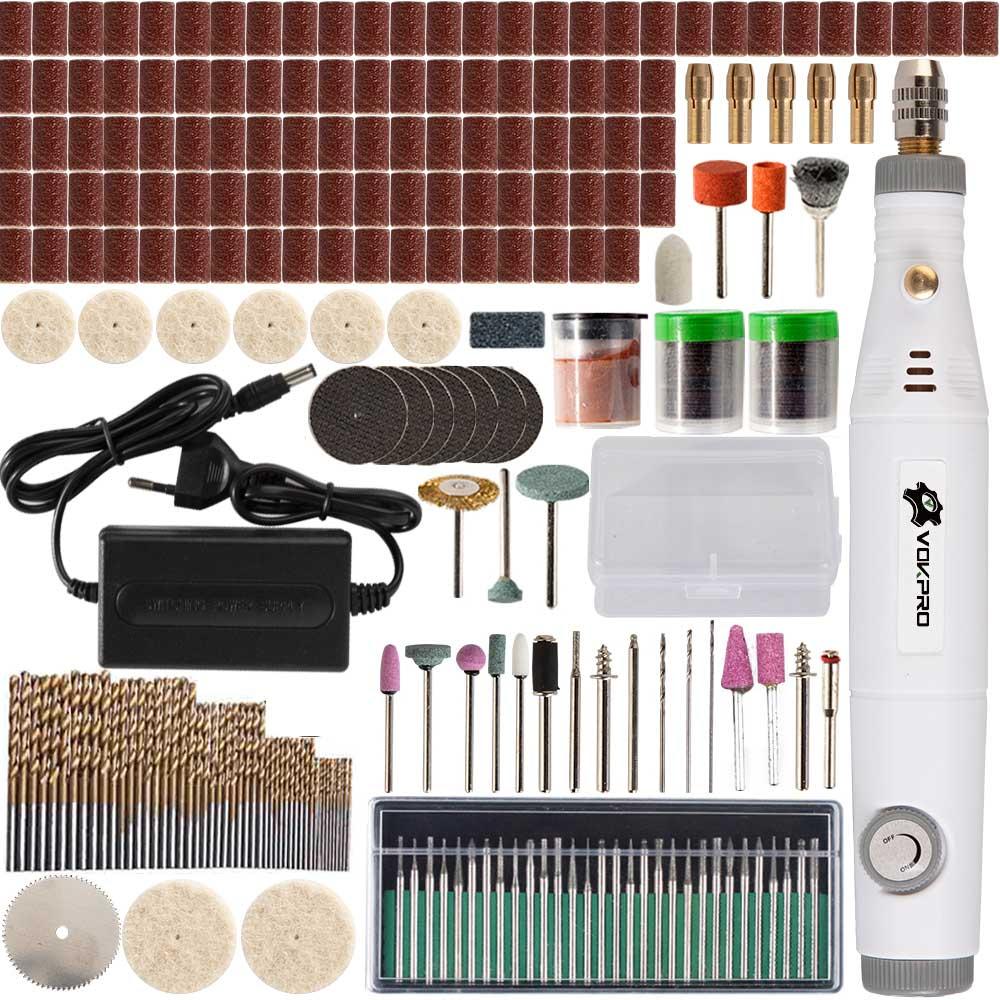 18V pluma de grabado Mini herramienta de velocidad ajustable con accesorios de molienda conjunto multifunción Mini pluma de grabado herramientas Dremel