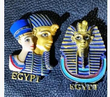 Atacado fábrica tomada rainha do egito/faraó/pirâmide geladeira adesivos, artesanato paisagem grande sala mundialmente famoso