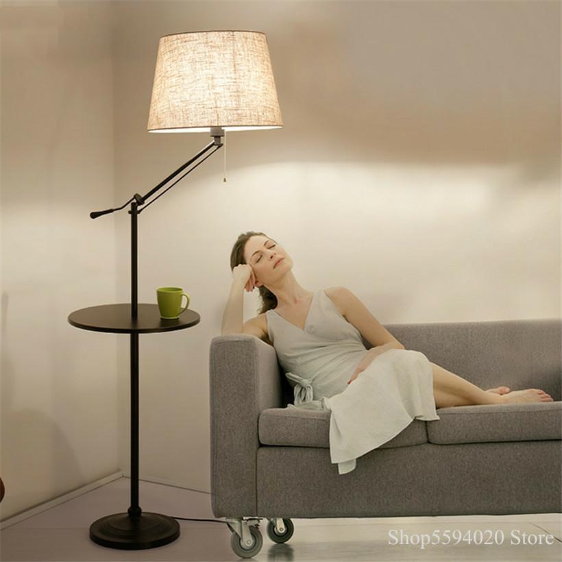 Palé americano de pie lámparas de pie sala de estar estudio Pallet café luces Mesa cabeza luces de Control remoto Lampara accesorio
