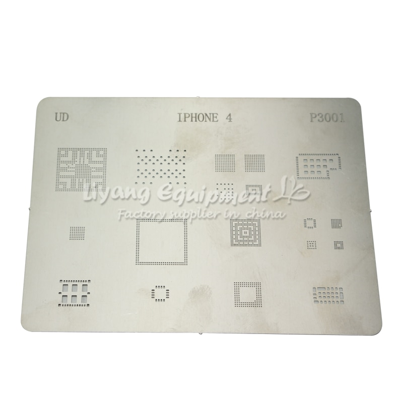 14 unids/lote IC Chip BGA Reballing Stencil Kits para iPhone 4 4s 5 5s 5c 6 6Plus 6 6S 6SPlus SE iPhone7 7Plus 8 8 plus placa base