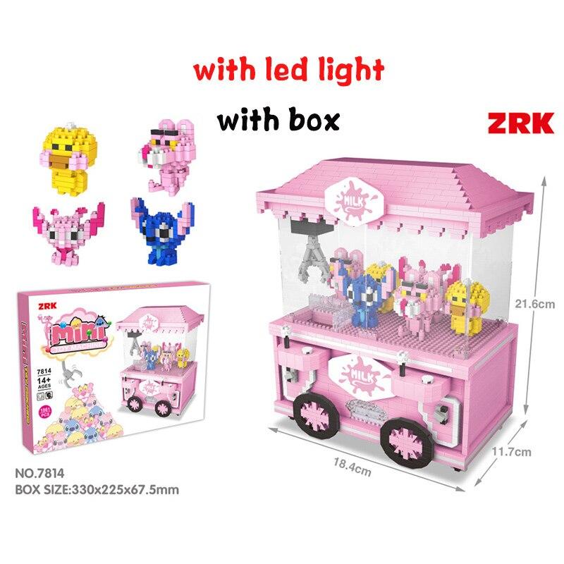 Mini bloques de construcción amigos ladrillos diamantes buildmoc technic ensamblar iluminar juguetes educativos clásicos para niños