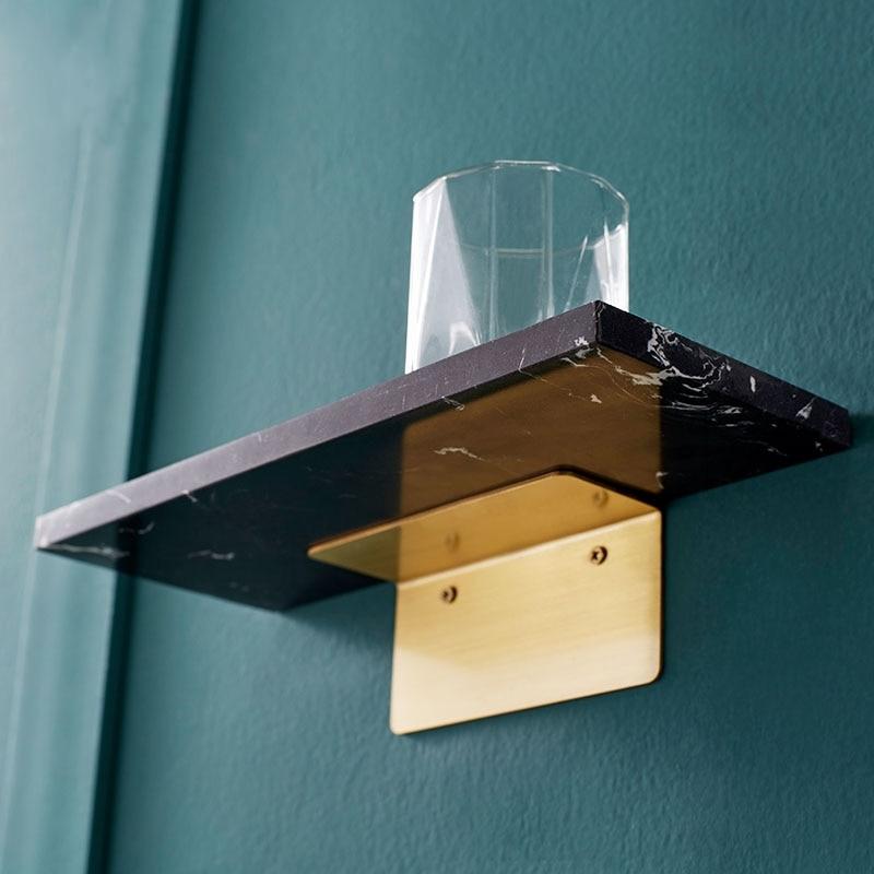 Bad Rack für Über Badewanne Dusche Organizer Messing Marmor Wand Regal Nordic Wohnzimmer Regal Bad Zubehör Regal Korb