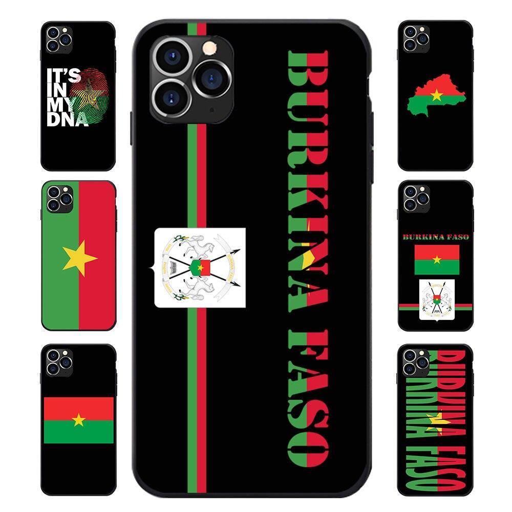 Para huawei p8 9 10 20 30 mate plus pro lite x burkina faso bandeira nacional brasão de braços mapa macio tpu telefone casos capa logotipo texto