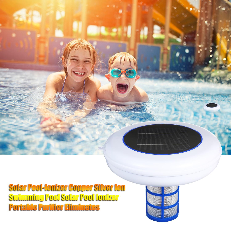 Ionizador Solar de piscina de iones de cobre ionizador Solar Purificador Portátil de piscina elimina