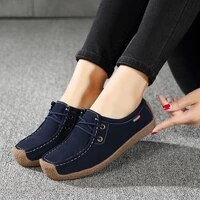 brand women genuine leather flat shoes lace up sneakers spring autumn oxford shoes female loafers casual suede flats stitching