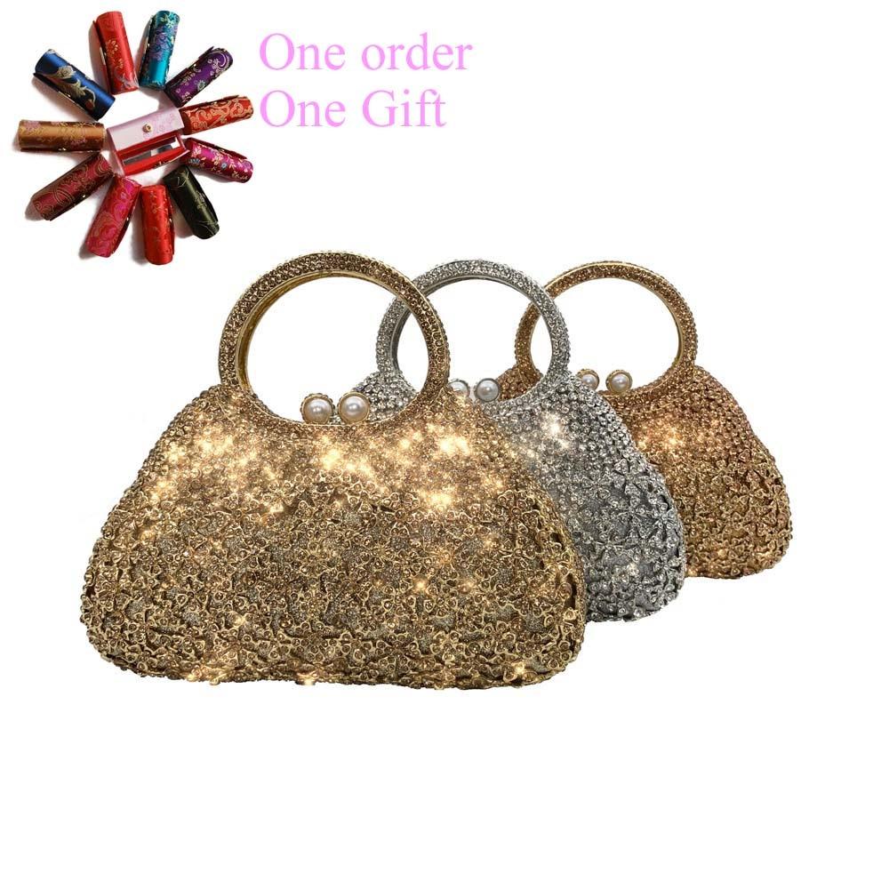 السيدات حجر الراين حقيبة يد الجوف خارج كريستال محفظة الماس نساء يدّ حقائب سهرى لحفل زفاف