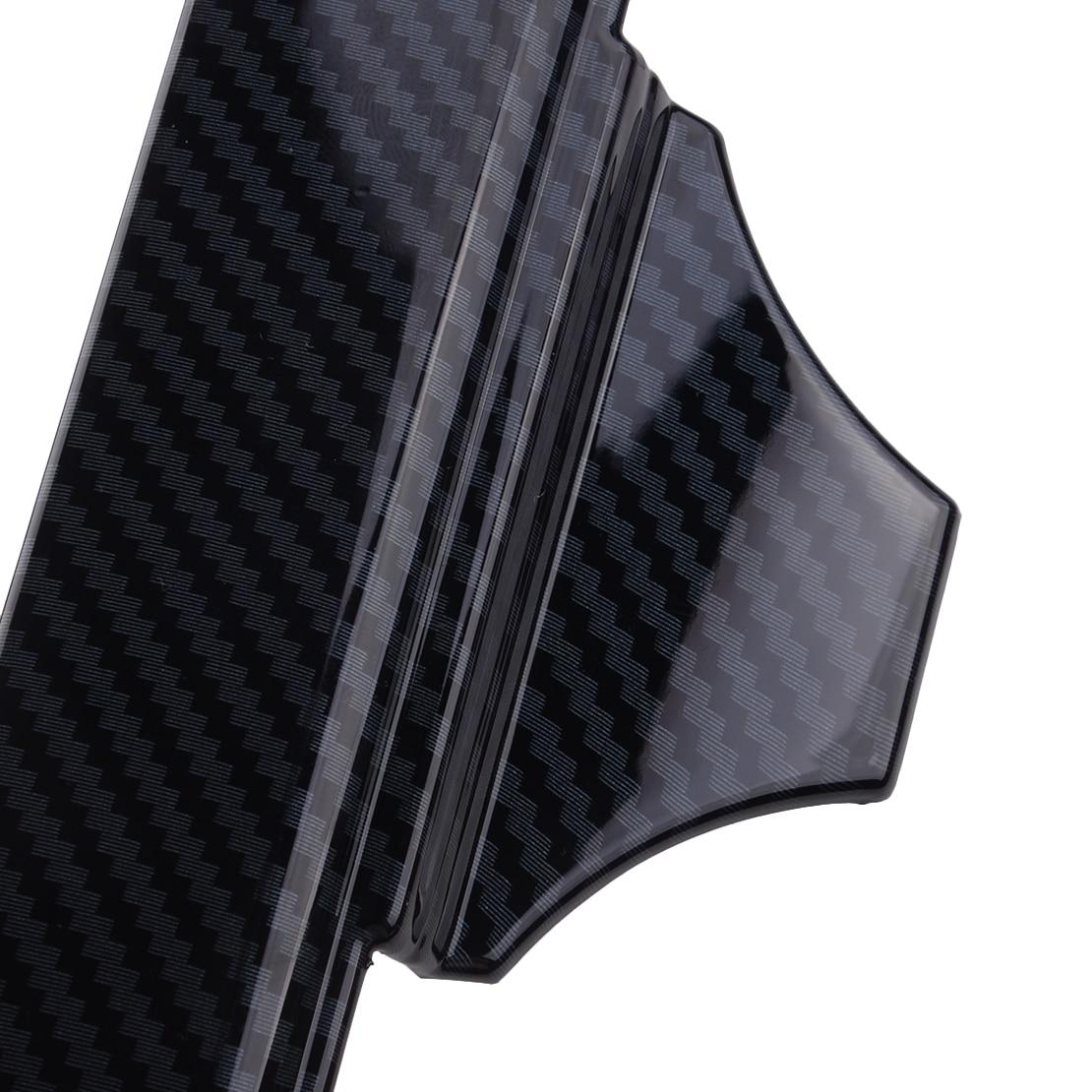 New Carbon Fiber Style ABS Car Rear Armrest Box Cup Holder Cover Trim Frame Fit for Ford F150 2016 2017 2018 2019 enlarge