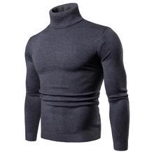 Nouveau Streetwear hommes hiver chaud coton col haut pull pull