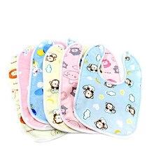 5pc/lot Baby Bibs Supplies Velvet Crystal Waterproof Buckle Hood Towel