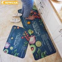 Kitchen Mat Waterproof Oilproof Kitchen Rug PVC Leather Anti-fatigue Kitchen Carpet Non-slip Doormat Tatami Tapete Para Sala