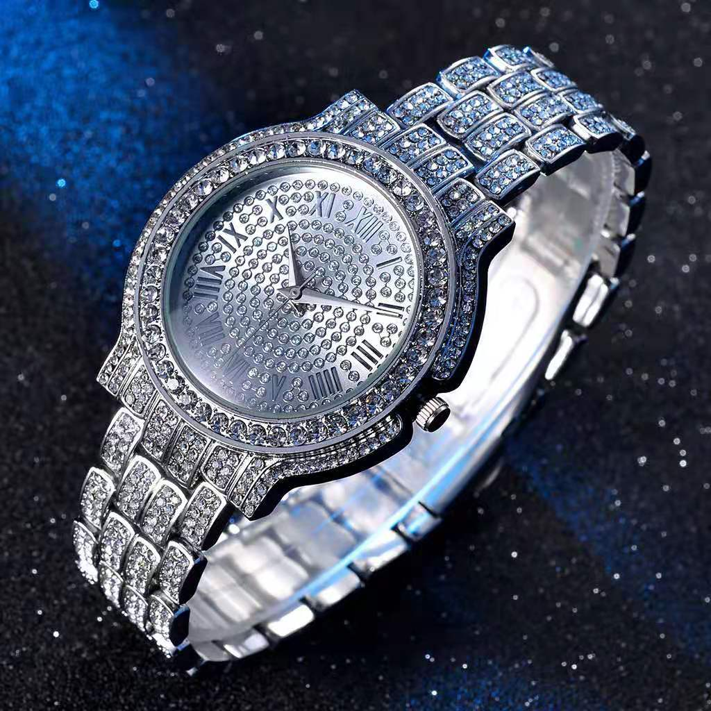 Women Watches Luxury Hiphop Punk Iced Out Watch Gold Diamond Rhinestone Watch for Women Quartz Wristwatch Relojes Para Mujer watch for women top brand luxury iced out watch diamond watch for men iced out cuban link chain necklace wristwatch man hiphop