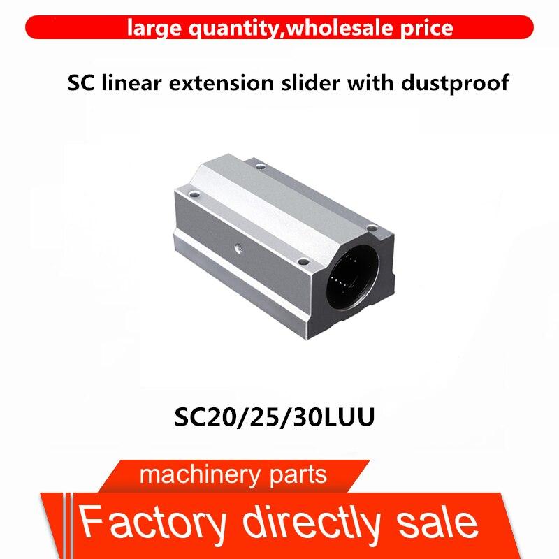 تحمل خطي مطول مع الغبار واقية ، مقاومة للتآكل عالية الدقة المنزلق تحمل 1/2 /4 قطعة SC20/25/30LUU