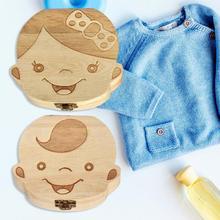 Boîte en bois pour dents de bébé   Boîte de rangement des dents denfants, dents ombilical, Lanugo organisateur de dents de lait, recueillir des cadeaux, sauver