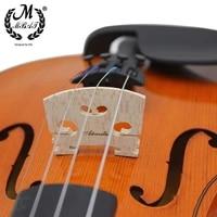 m mbat wooden 44 violin bridge high quality musical instrument accessories acoustic fiddle maple strings bridge part tools