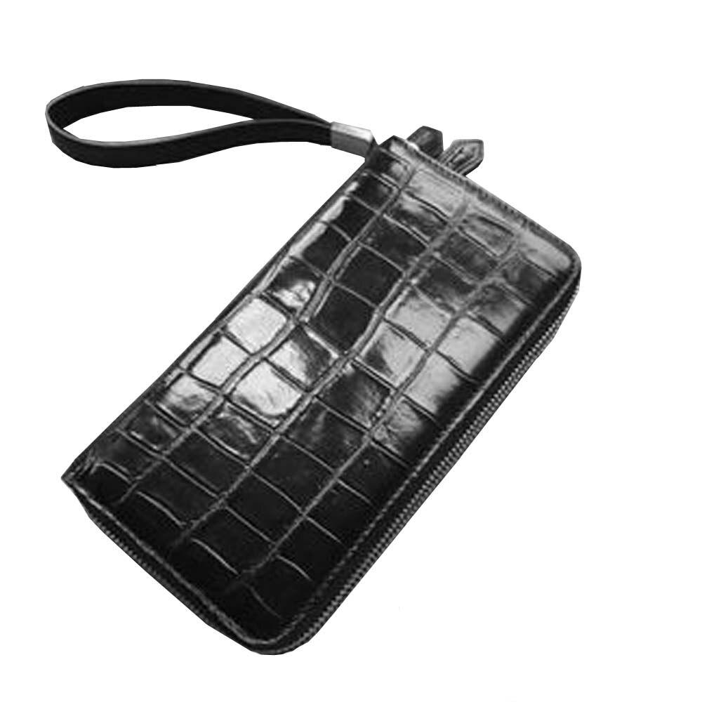chuangyipijiang new crocodile  belly  male  Double zipper men  Hand bag    Long wallet men clutch bag men crocodile leather bag