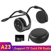 bluetooth compatible wireless headphone open ear hifi sports earphone waterproof headsets with mic support tf card fm radio mp3