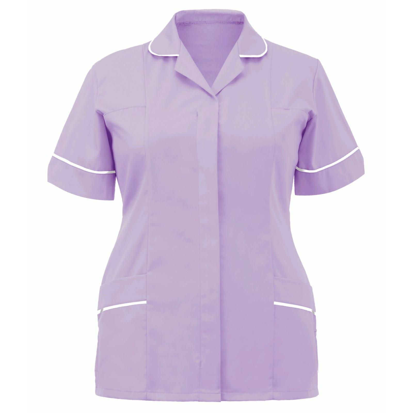 2021 Женская туника для медсестер, защитная одежда для клиники с лацканами, топы, летняя женская модная искусственная кожа