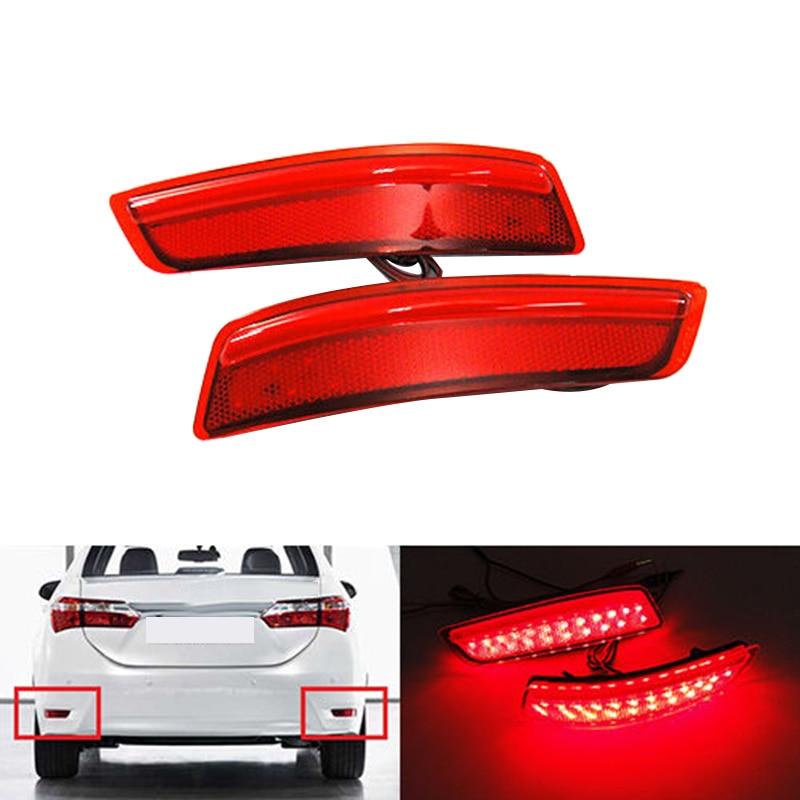 DHBH-luz de parachoques trasero de coche, Reflector LED, luz de freno trasera para Toyota Corolla Lexus GS250 GS350 ES250 ES350 ES300 2012 +