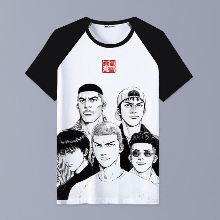 Anime SLAM DUNK T-Shirt Cartoon Clothing Unisex Adults Child Casual fashion T Shirt Short Sleeve Tops tshirt .