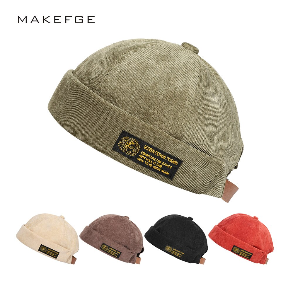 Шапка-бини мужская шапка женская мужская шапка Ретро Шапка-бини Вельветовая Шапка-бини мужская шапка Весна 2021 Новинка
