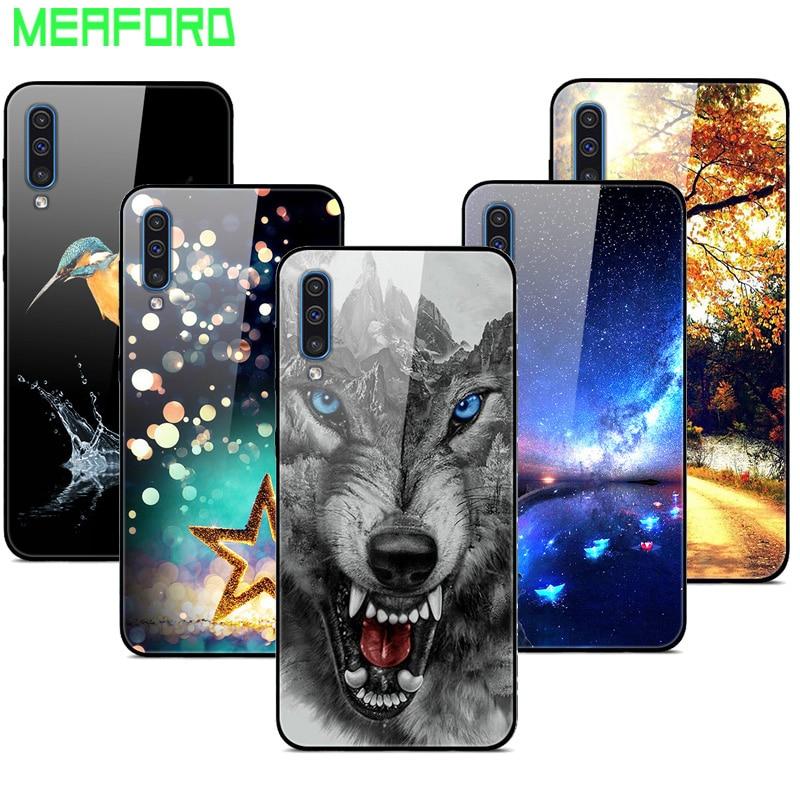 AliExpress - Tempered Glass Case For Samsung Galaxy A50 A70 A30 A10 A20 S10 Plus J4 J6 A7 A8 A9 2018 S10E A30S Cover Soft Bumper Back Case