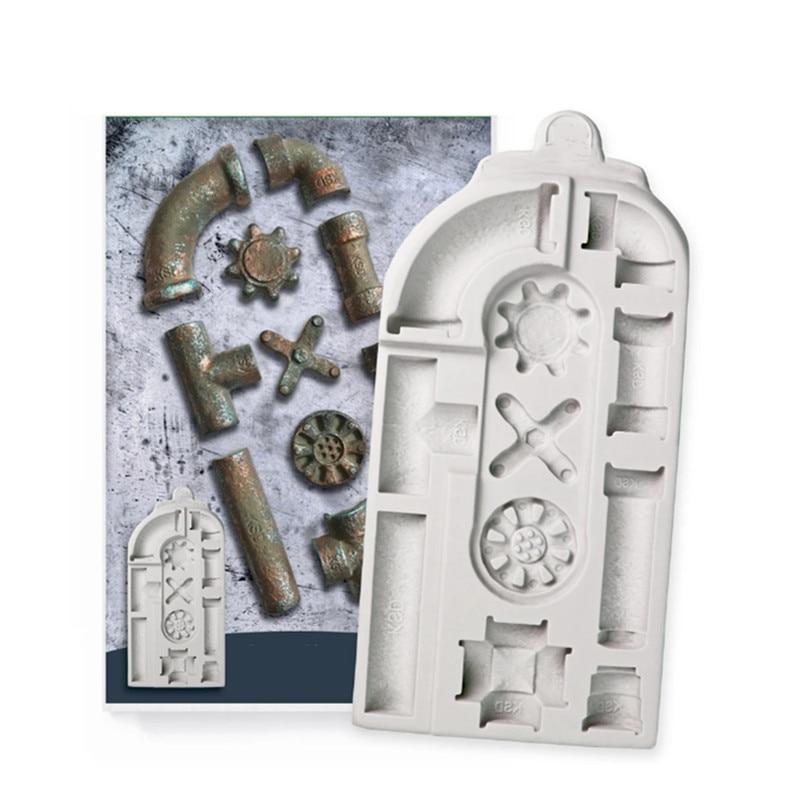 Форма трубы силиконовая форма инструмент для украшения шоколада форма торта Форма для мастики, Sugarcraft, кухонная утварь