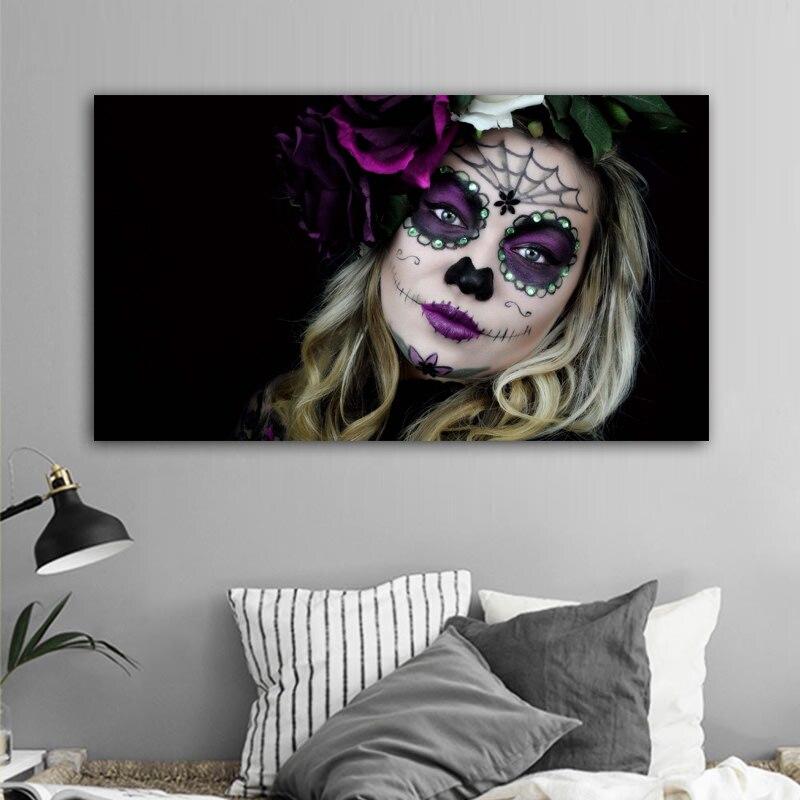 Carteles de retratos de mujeres atractivas Pop pintura abstracta de lienzo cuadros de arte de pared para sala de estar dormitorio decoración moderna del hogar sin marco