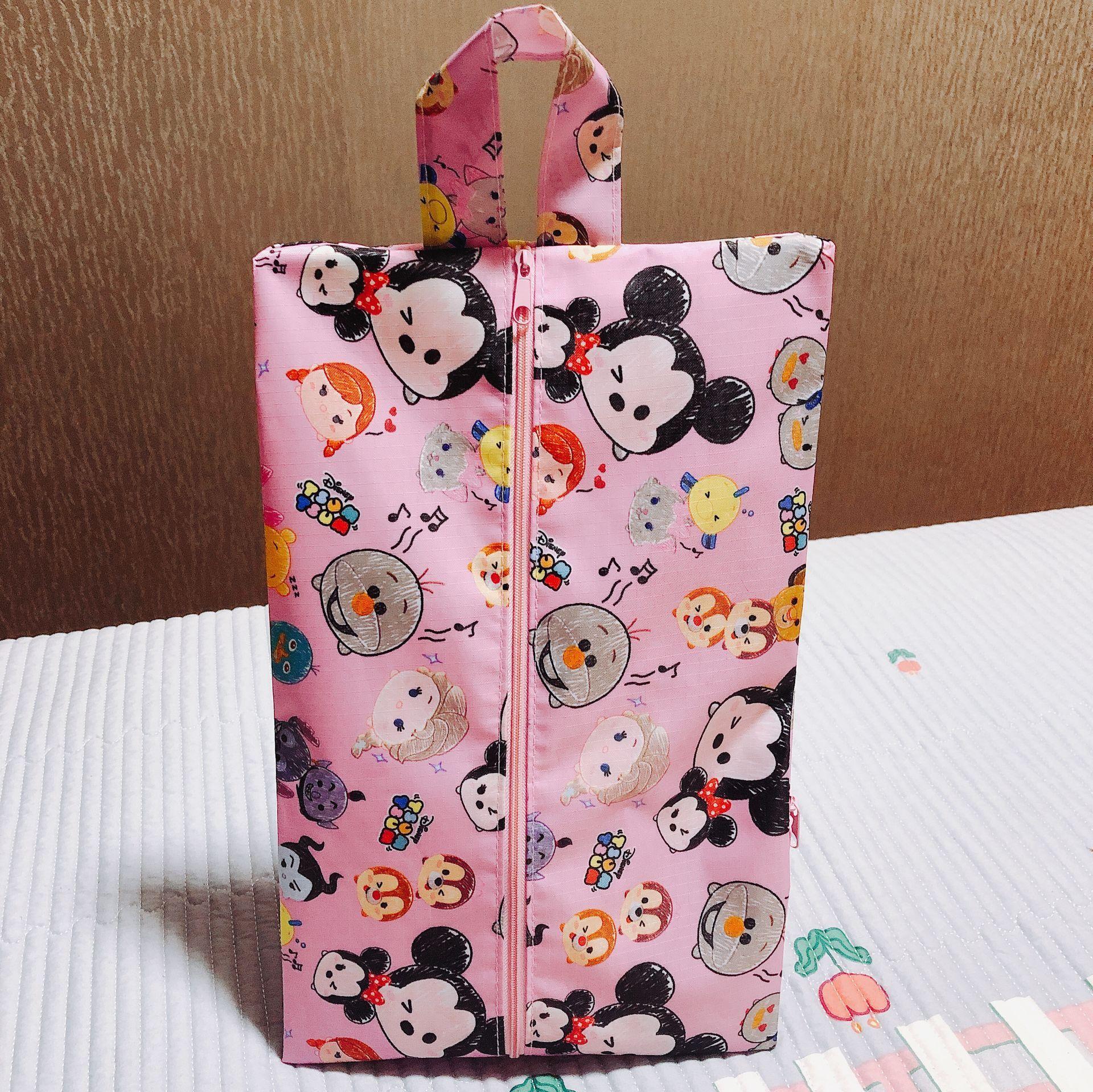 Disney Микки Маус мультфильм Женская Мужская Сумка водонепроницаемая обувь полотенце Одежда сумка для хранения Минни Сумка для обуви