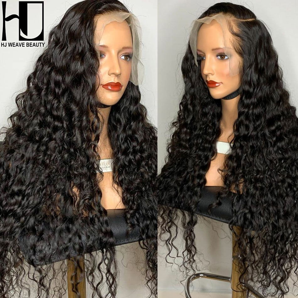 13x4 HD Lace Frontal Wig Brazilian Curly Human Hair Wigs Kinky Curly Wig Transparent Lace Wigs Preplucked Wig For Women