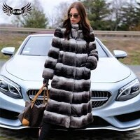 bffur fashion long real rex rabbit fur coats winter trendy women full pelt genuine rex rabbit fur coat chinchilla color outfits