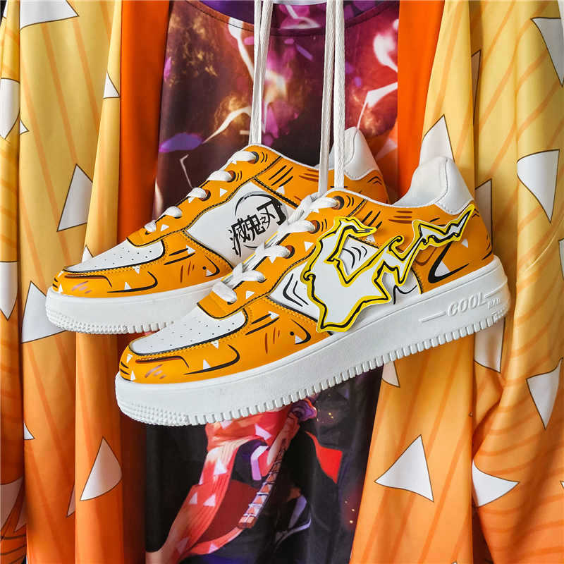 Zapatos de animación Demon Slayer, zapatos de verano para hombres, tendencia Casual salvaje, zapatos de moda para estudiantes, zapatillas de deporte para estudiantes