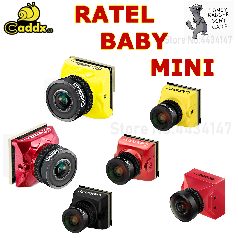 "Caddx bebé Ratel / RATEL 1/1 8 ""Starlight HDR OSD 1200TVL 169 43 NTSC/PAL/1,66mm/2,1mm de la Lente de la Cámara FPV para Dron de carreras con visión en primera persona"