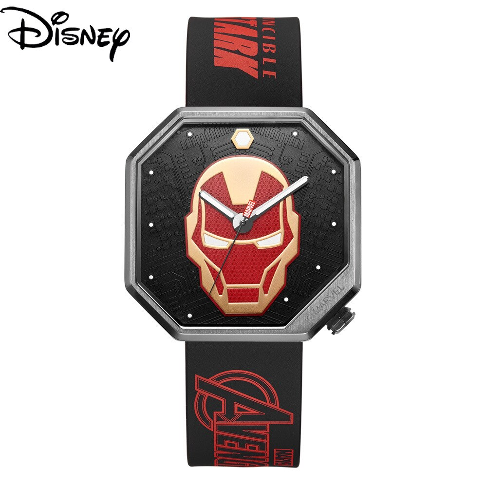 Disney Men's Luminous Quartz New Tape Marvel Watch Iron Man Fashion Unique Waterproof Watch