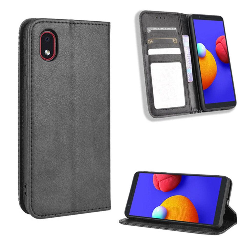 Para Samsung Galaxy A01 Core de lujo Flip PU cuero cartera magnética adsorción caso para Samsung M01 Core A 01 M 01 bolsa de teléfono
