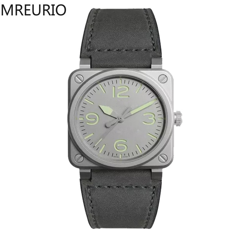 MREURIO Best Selling 2020 Men Watch Simple Square Dial Quartz Wristwatches for Male Female Fashion Casual Relojes Clock Gifts black ink world map dial watch natural bamboo wood watch fashion casual leather men quartz analog round wristwatches clock male