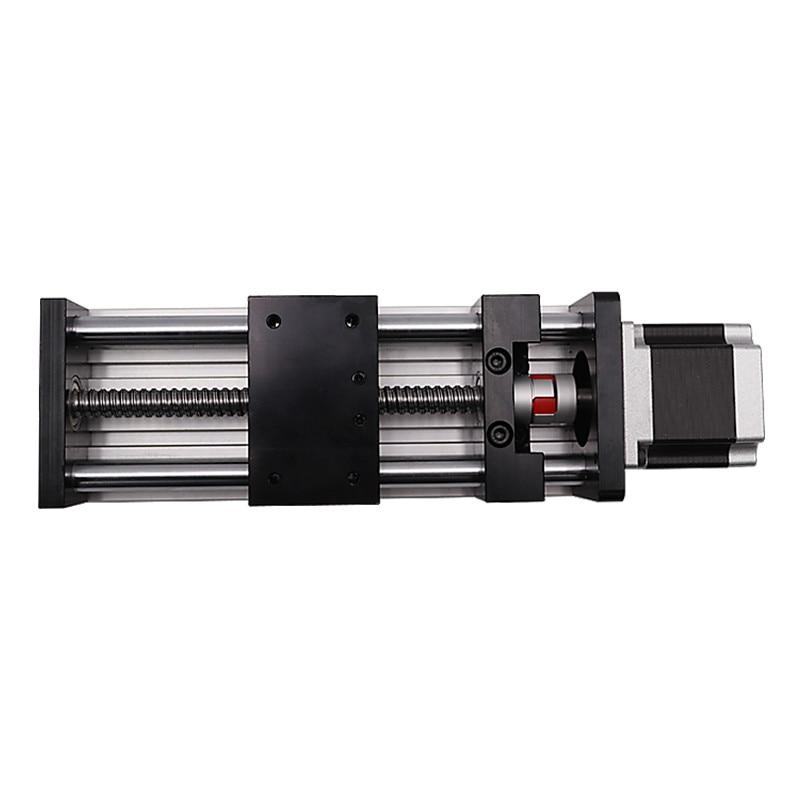 CNC SBR80 1605 Double Optical Axis Ball Screw Slide / linear Precision Guide / Cross Screw Module / Slide Table