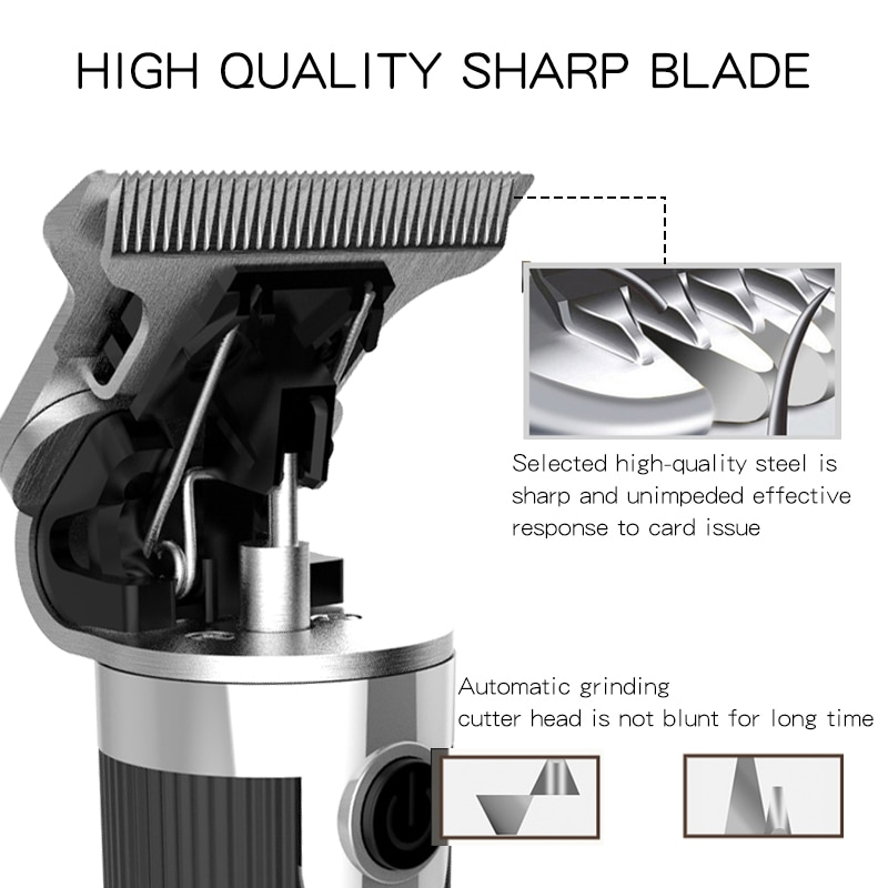 Electric Hair Trimmer Rechargeable Baldheaded Hair Clipper Cordless Men Beard Styling Cutting Machine Convenient Shaver Barber enlarge