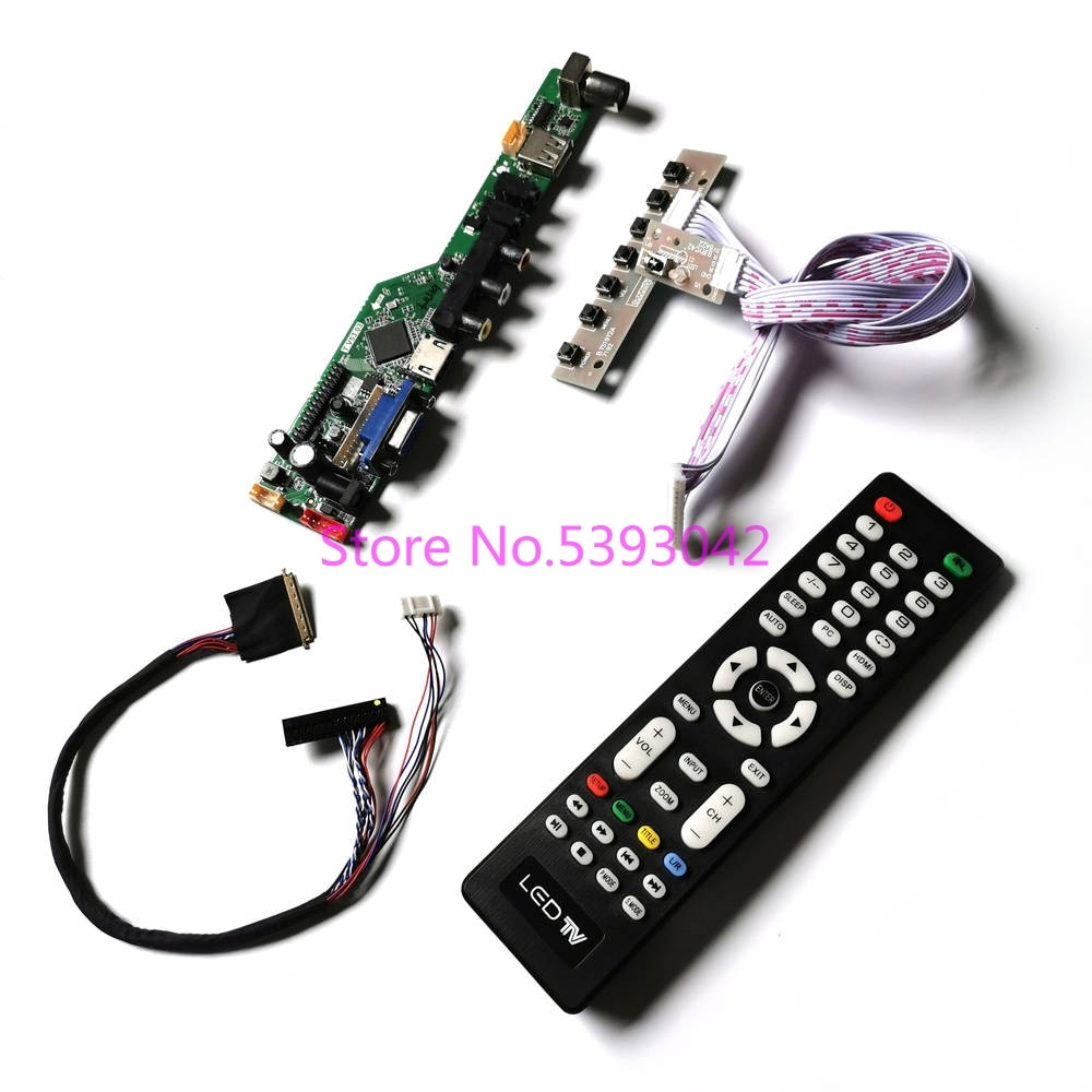 KIT for LP156WH4 (TL)(A1)/(TL)(B1)/(TL)(C1)/(TL)(C2) LVDS LCD panel 1366*768 HDMI VGA USB AV 40Pin Analog TV control drive board